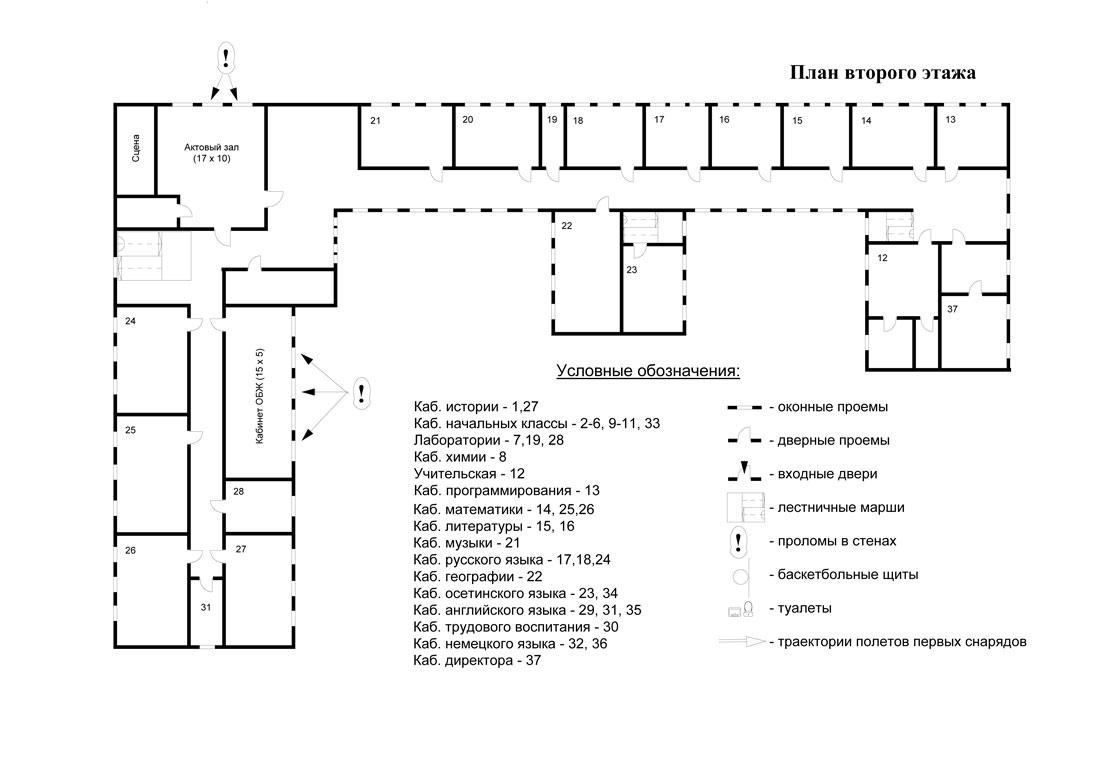 схема план помещения